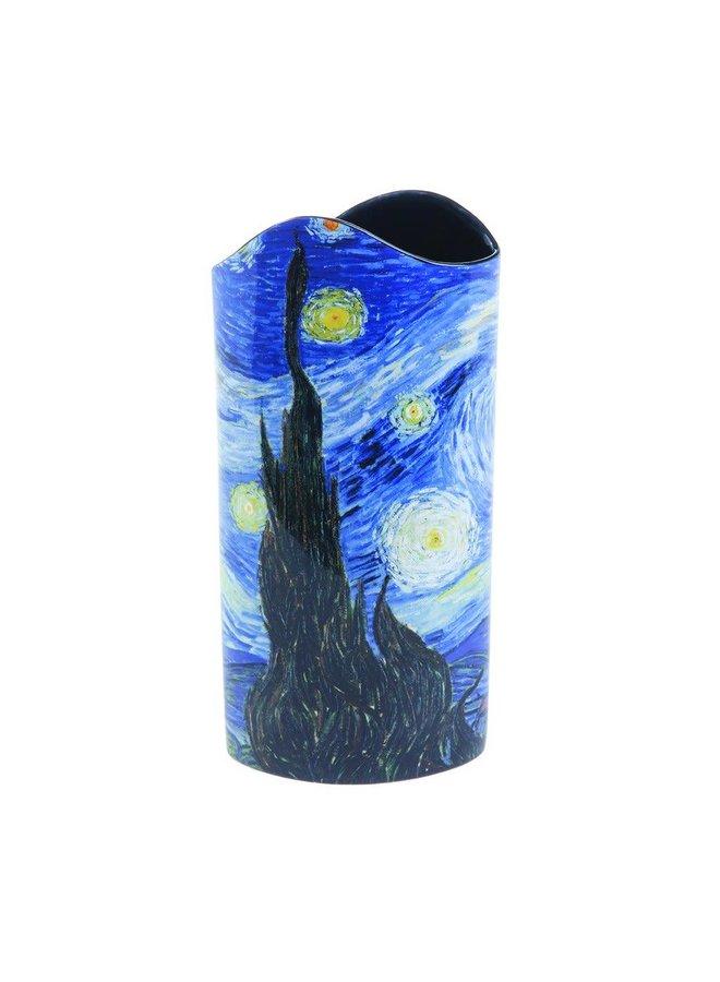 Sternenklare Nachtschattenbild-Kunst-Vase 022 Van Gogh