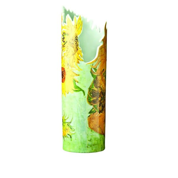 Van Gogh Sunflowers Silhouette Art Vase