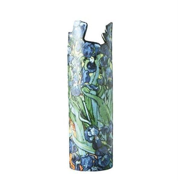Van Gogh Iris Silhouette Art Vase