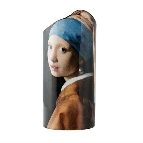 Dartington Crystal Ltd Vermeer Mädchen mit Perlenohrring Silhouette Art Vase 031