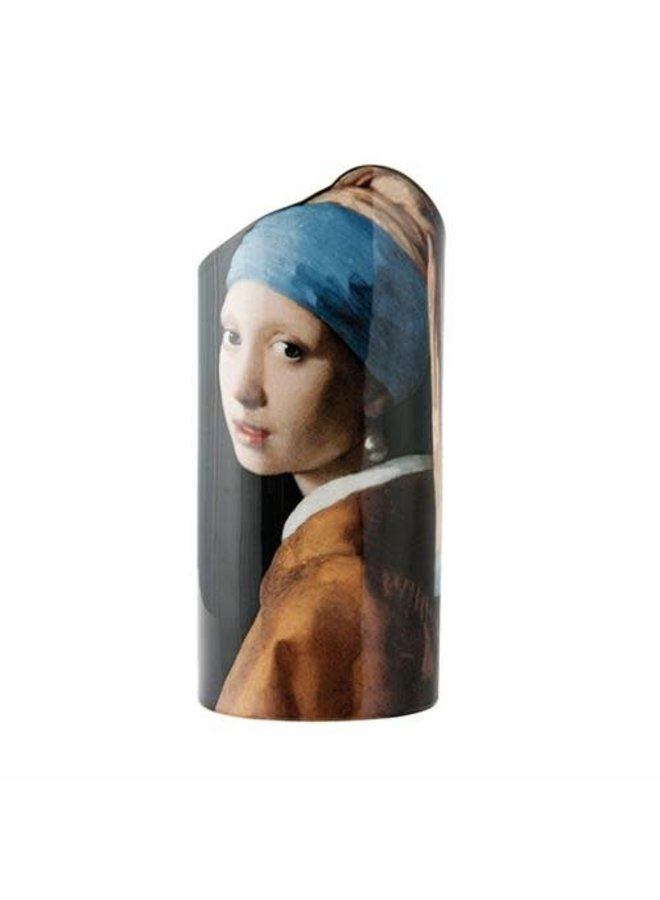 Vermeer Mädchen mit Perlenohrring Silhouette Art Vase 031