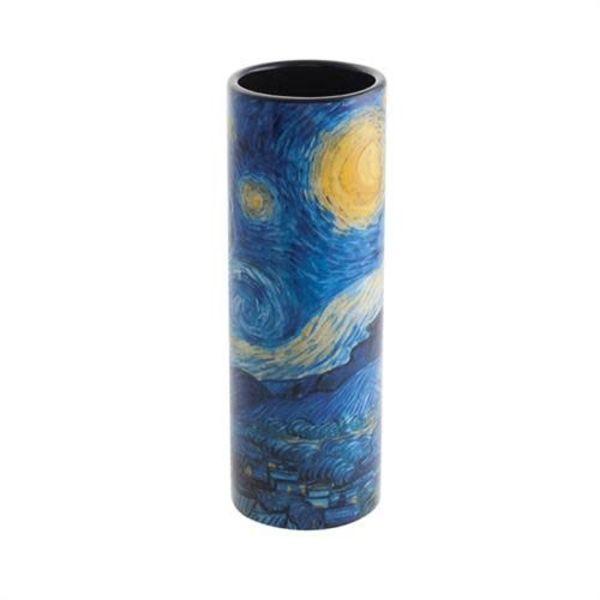 Van Gogh Sternennacht Kleine Kunstvase aus Keramik 013