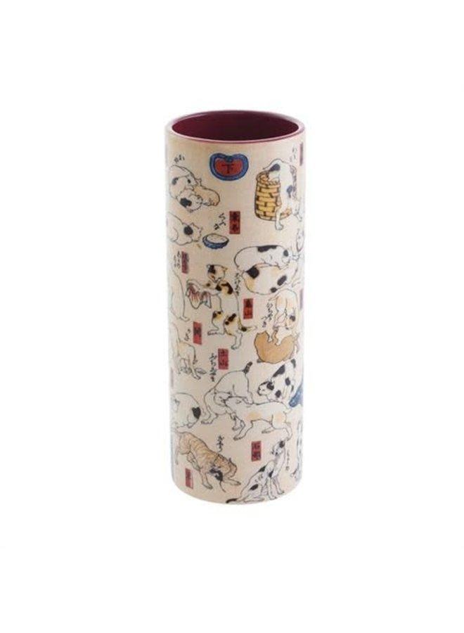 Kuniyoshi Cats Medium Art Vase aus Keramik 018
