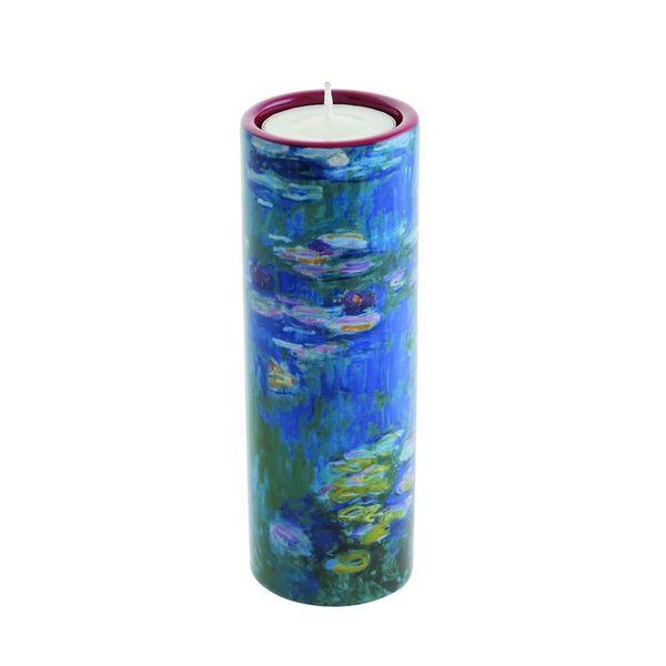 Titular de la luz del té de los lirios de agua de Monet de cerámica