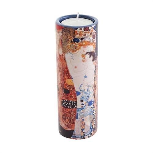 Dartington Crystal Ltd Klimt Drei Lebensalter von Frauen Teelichthalter aus Keramik