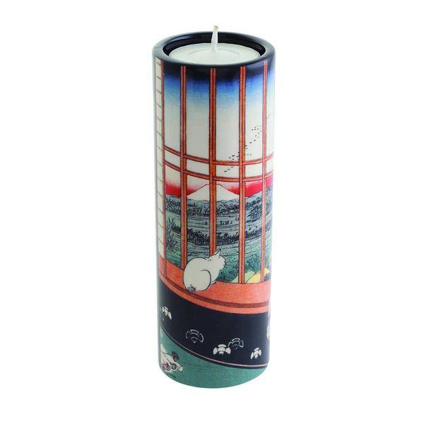 Hiroshige Mount Fuji Teelichthalter aus Keramik