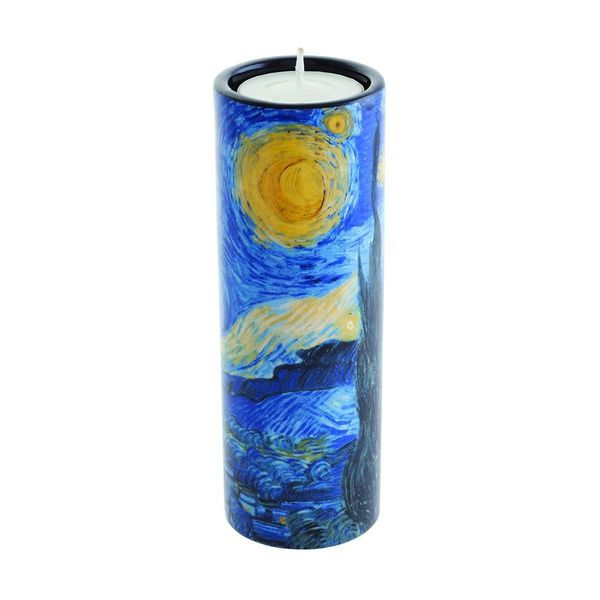 Van Gogh Stary Night Tea Light Holder Cerámica