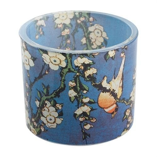 Dartington Crystal Ltd Hokusai Bird Flowers Tea lights