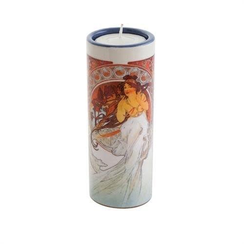Dartington Crystal Ltd Mucha The Arts Dance und MusicTea-Lichthalter aus Keramik
