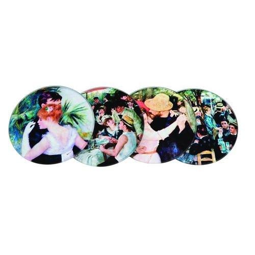 Dartington Crystal Ltd Renoir Set 4 glass coasters