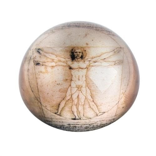 Dartington Crystal Ltd Da Vinci Vitruvian Man Paperweight