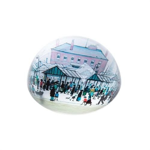 Dartington Crystal Ltd Lowry Market Scene Paperweight