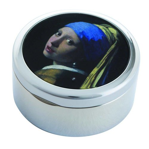 Dartington Crystal Ltd Vermeer Girl with Pearl Earring Trinket Box