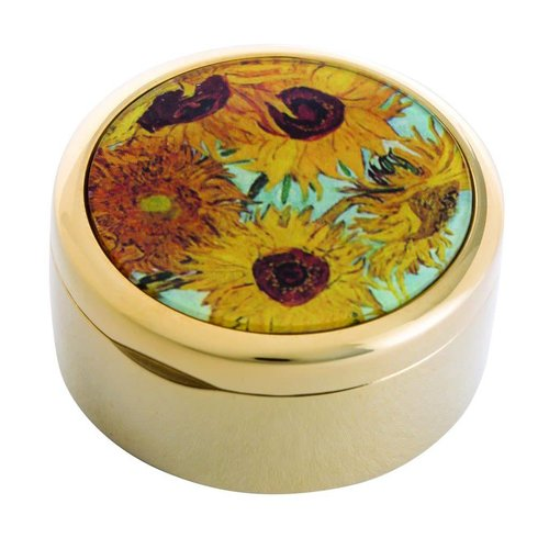 Dartington Crystal Ltd Van Gogh Sunflowers Trinket Box