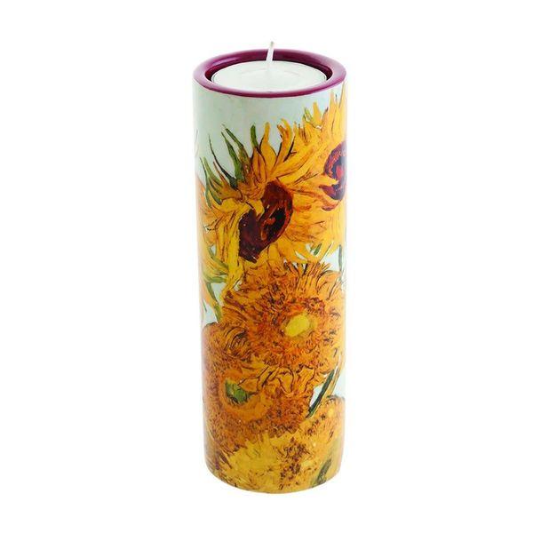Van Gogh Sunflowers Tea Light Holder Ceramic