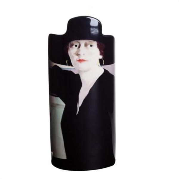 Cadel Lady in Black  Silhouette Art Vase