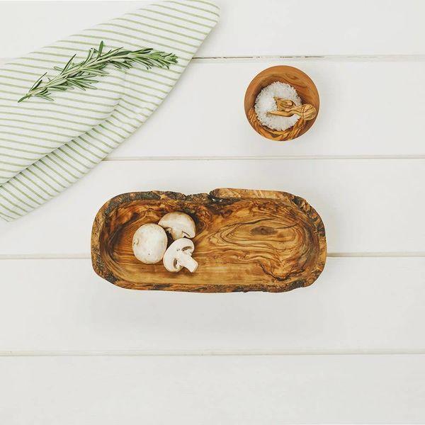 Olive Wood Rustic bowl 27cm