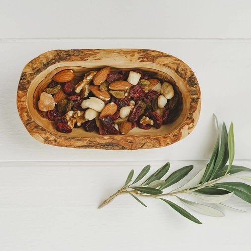 Naturally Med Cuenco rústico madera de olivo 20cm