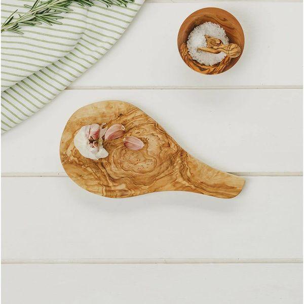 Olive Wood Garlic board with handle