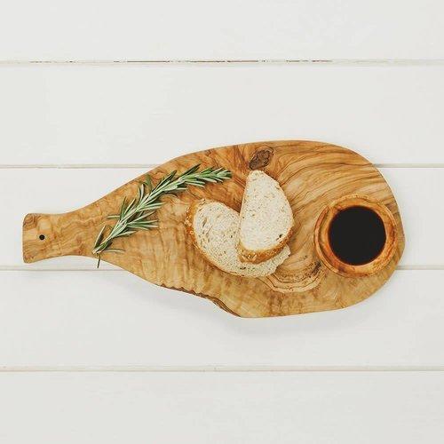 Naturally Med Tabla de cortar con mango de madera de olivo 42cm