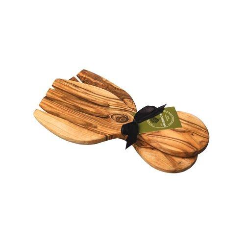 Naturally Med Conjunto de manos de ensalada de madera de olivo