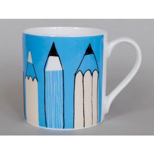 Repeat Repeat Gallery Mug Pencils Turquoise