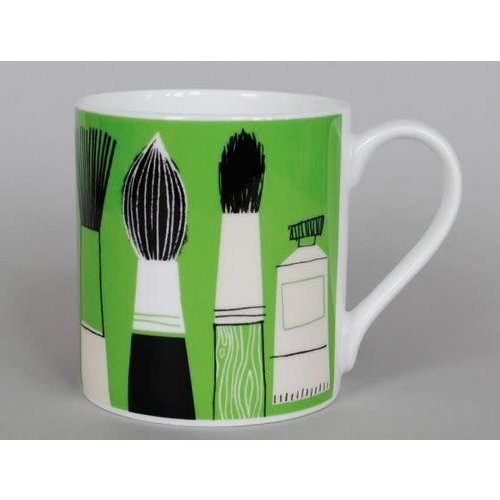 Repeat Repeat Gallery Mug Brushes Green