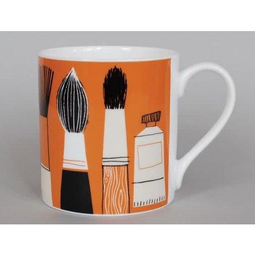 Repeat Repeat Gallery Mug Brushes Orange