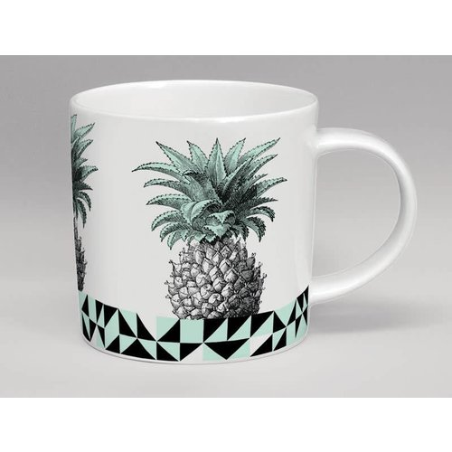 Repeat Repeat Hothouse Pineapple Mint  & White Mug