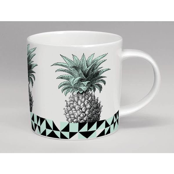Hothouse Pineapple Mint  & White Mug