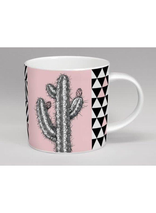 Treibhaus-hohe Kaktus-Rosa-Tasse