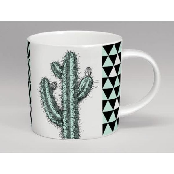 Hothouse Tall Cactus Mint & White Mug