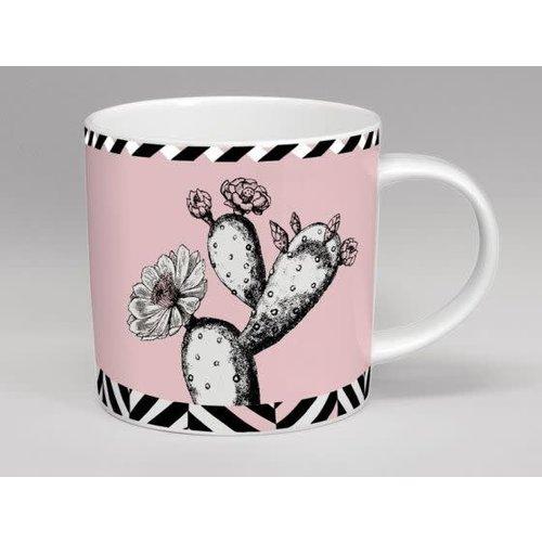 Repeat Repeat Taza del rosa de la flor del cactus del invernadero