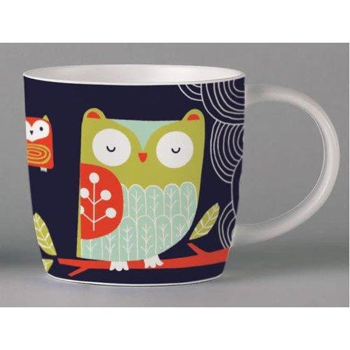 Repeat Repeat Folkland Barn Owl Dark Grey