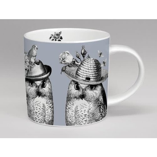 Repeat Repeat sunday best mr and mrs owl mug grey
