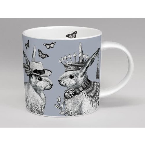 Repeat Repeat sunday best mr and mrs rabbit mug grey