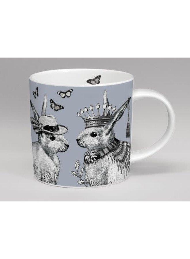 sunday best mr and mrs rabbit mug grey