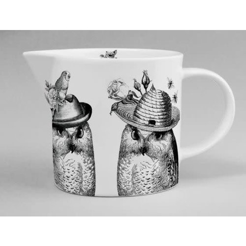 Repeat Repeat Sunday Best Mr And Mrs Owl Jug White