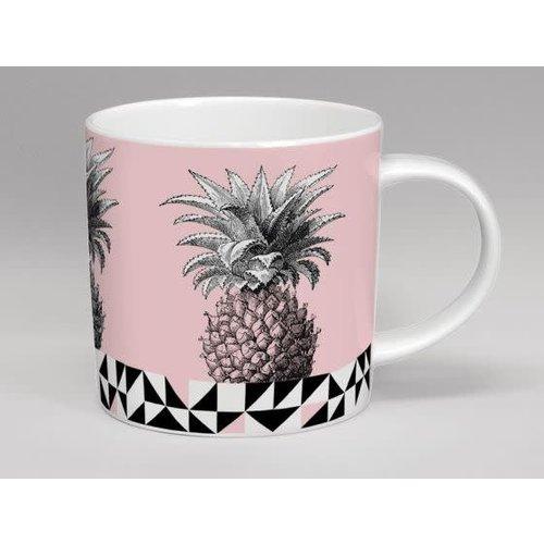 Repeat Repeat Treibhaus-Ananas-Rosa-Tasse