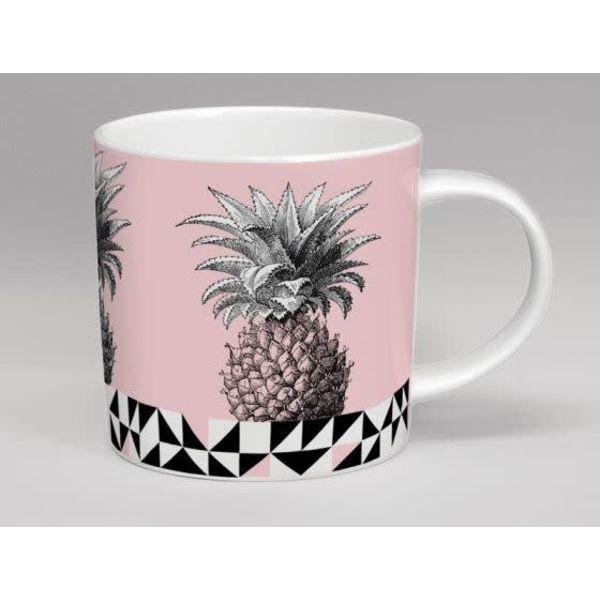 Treibhaus-Ananas-Rosa-Tasse
