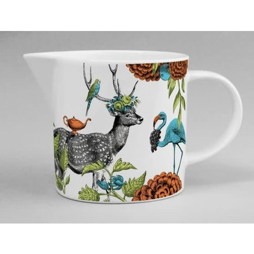 Repeat Repeat menagerie jug deer white