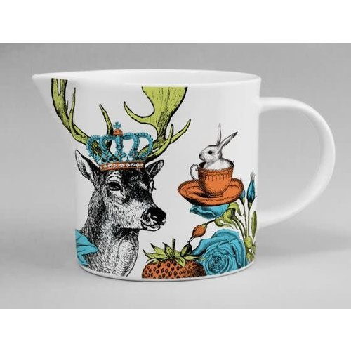 Repeat Repeat menagerie jug stag white