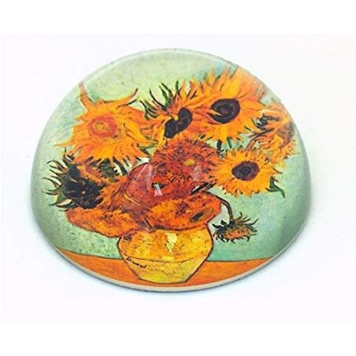 Dartington Crystal Ltd Pisapapeles De Girasoles De Van Gogh