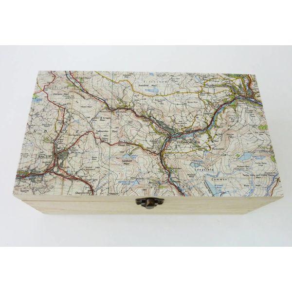 Todmorden Map Rectangular hinged birch box