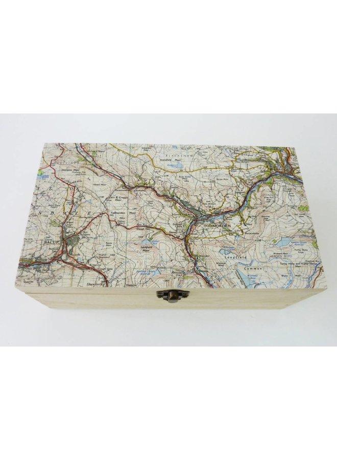 Map Rectangle Birch box Todmorden 24 x 14 x 8 cm