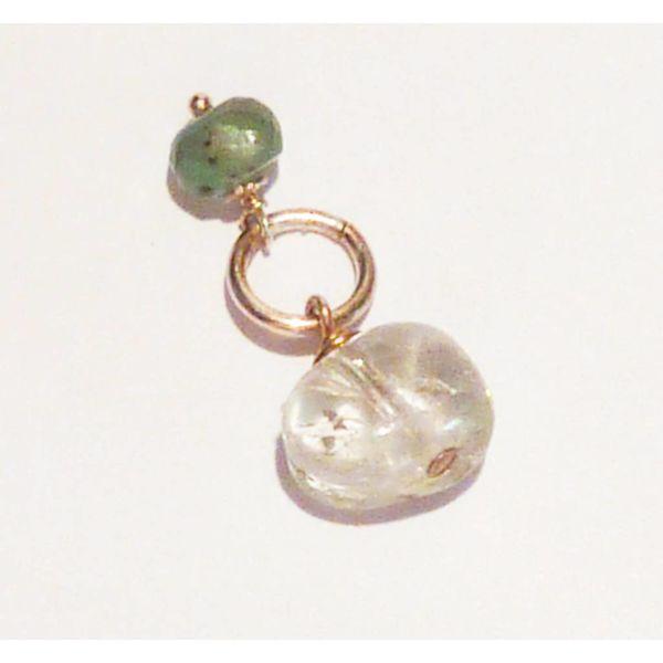 Topaz and quartz charm
