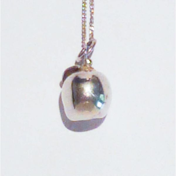 Apple solid silver necklace