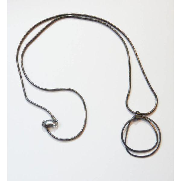 Hula oxidised silver necklace