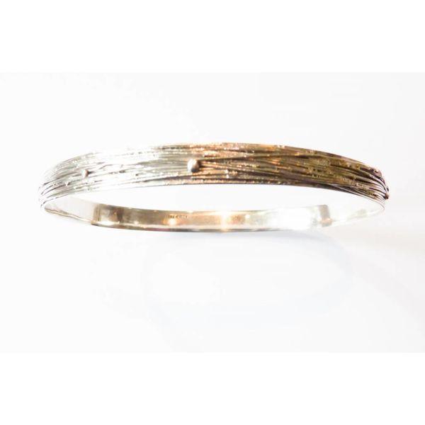 Wrap silver bangle