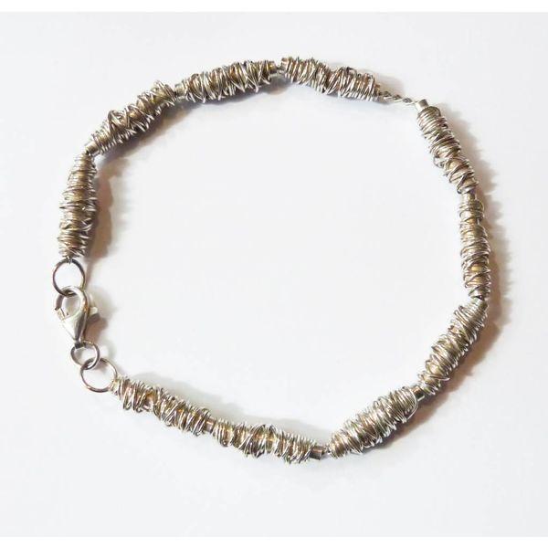 Wrap silver bracelet